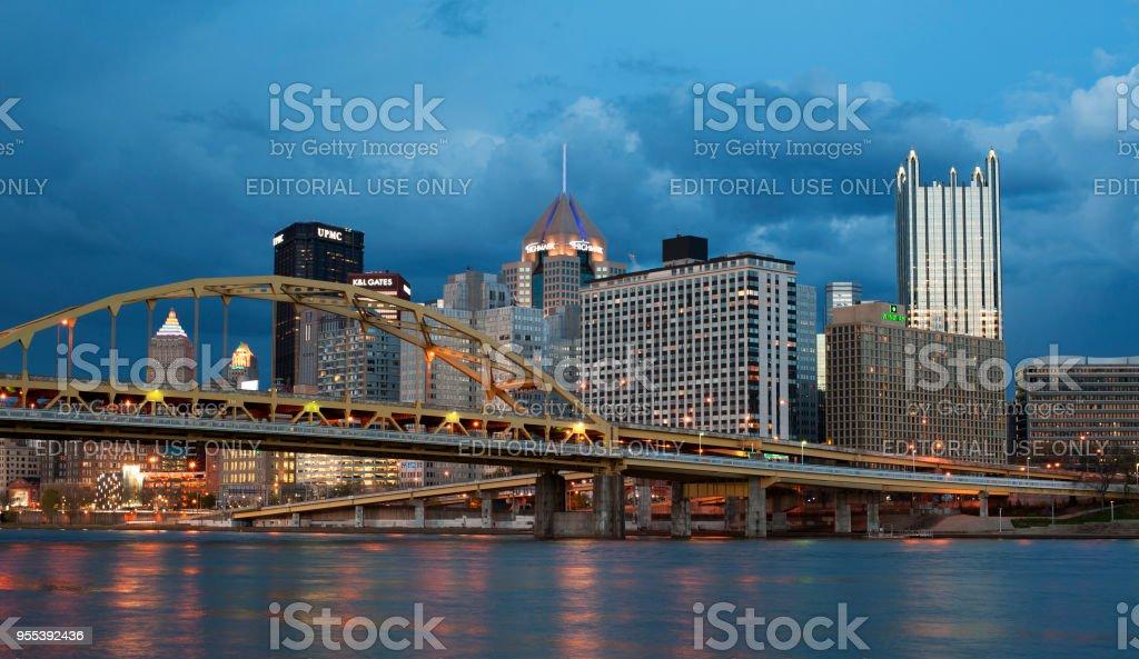 Pittsburgh skyline - Zbiór zdjęć royalty-free (Architektura)