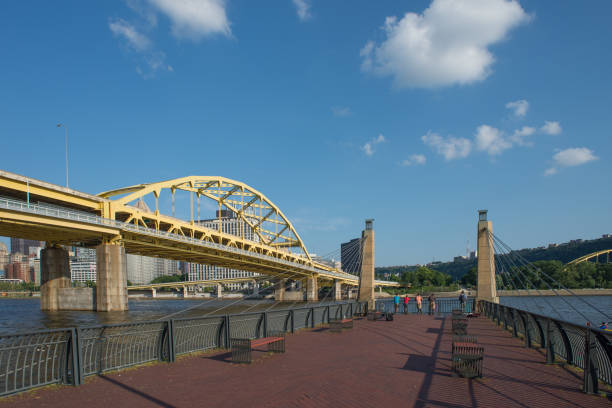 Pittsburgh's Fort Pitt Bridge Pittsburgh, PA. July 22, 2014 -
