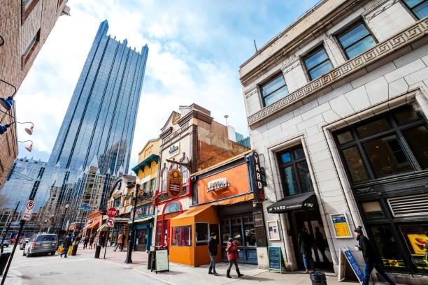 Pittsburgh's Market Square stock photo