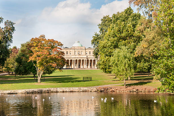Pittville Park In Cheltenham stock photo