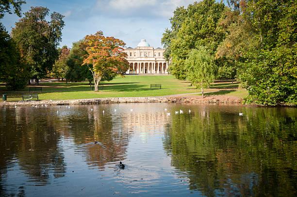 Pittville Park In Cheltenham, United Kingdom stock photo