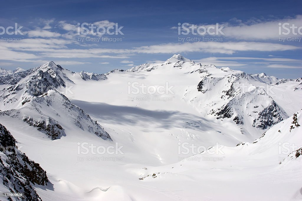 Pitztal Glacier  - Wildspitze royalty-free stock photo