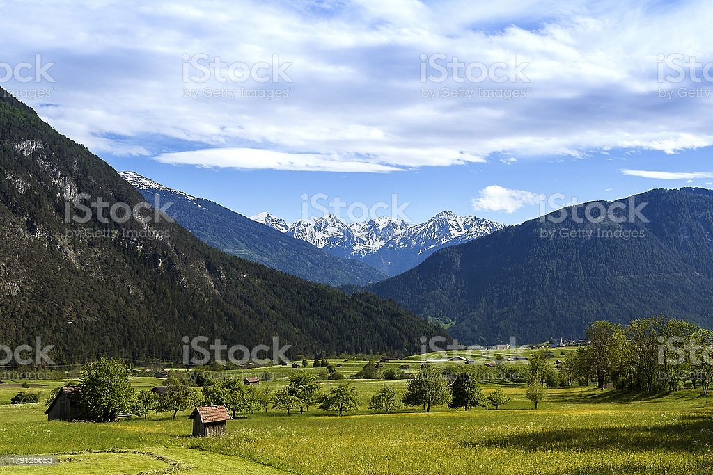Pitztal-Tirol-Beautyful of Alps- Austria stock photo