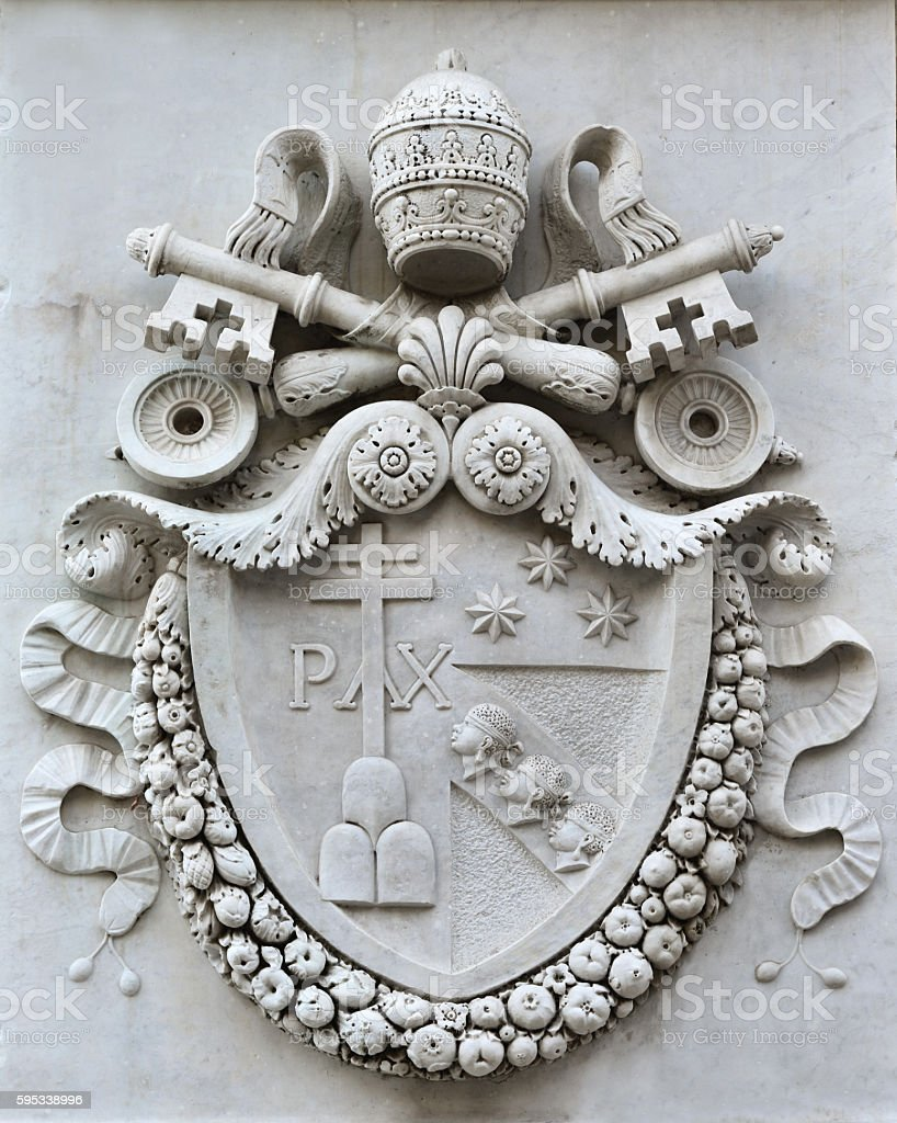 Pius VII coat of arms stock photo