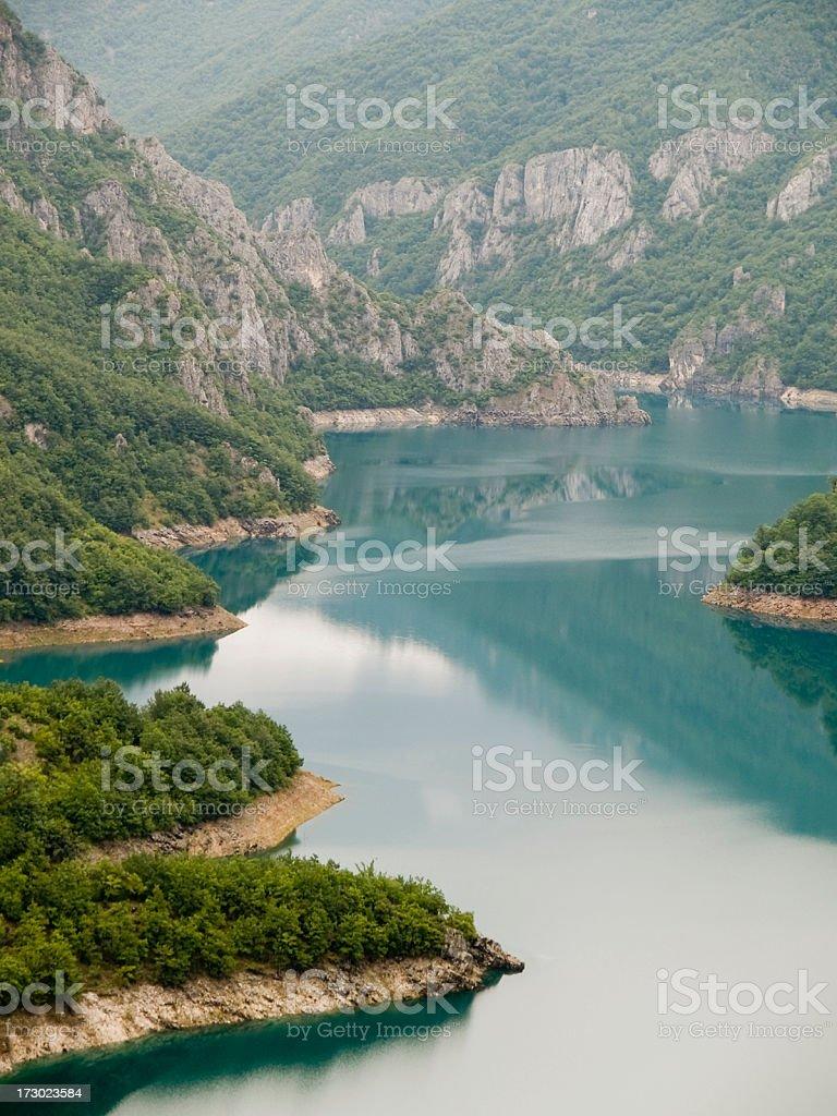 Piva artificial lake stock photo