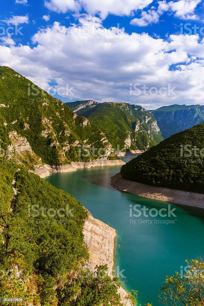 Piva Canyon - Montenegro zbiór zdjęć royalty-free