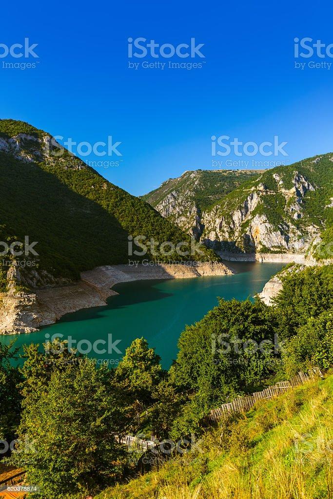 Piva Canyon - Montenegro foto de stock royalty-free
