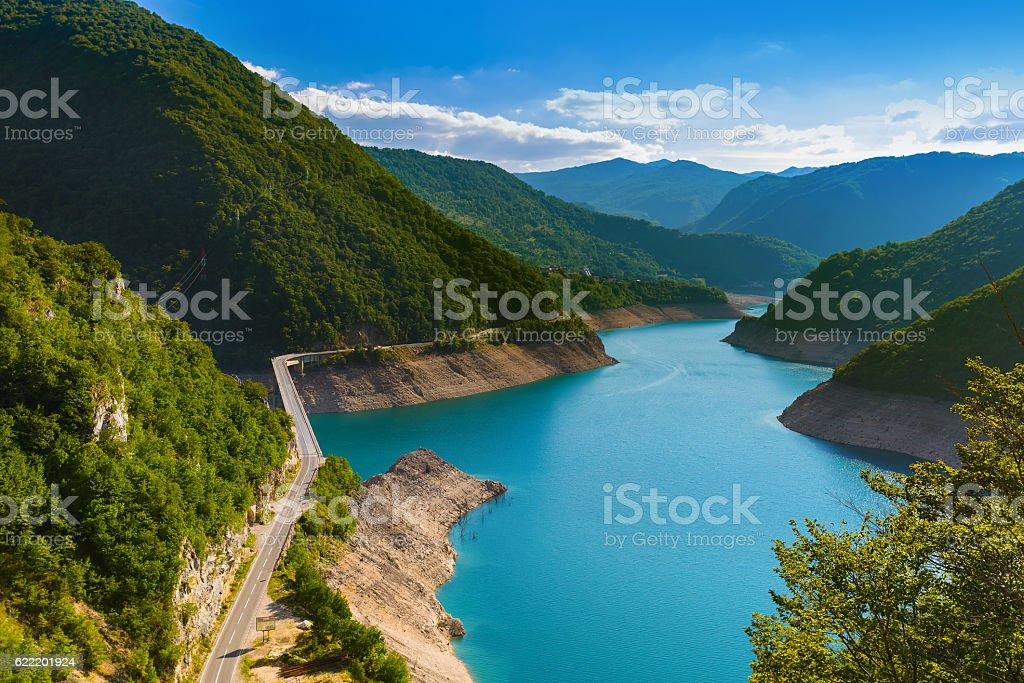 Piva Canyon - Montenegro stock photo