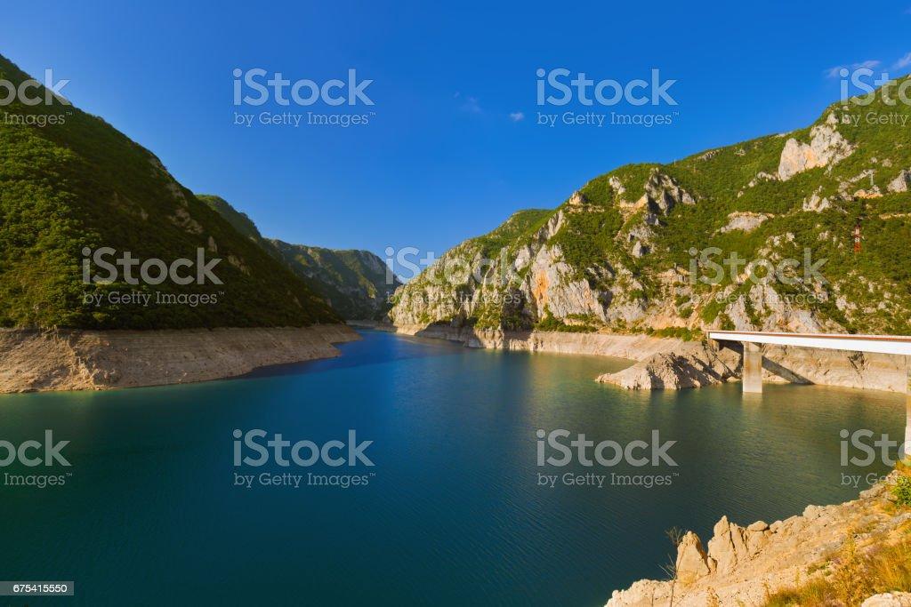 Piva Canyon - Montenegro photo libre de droits