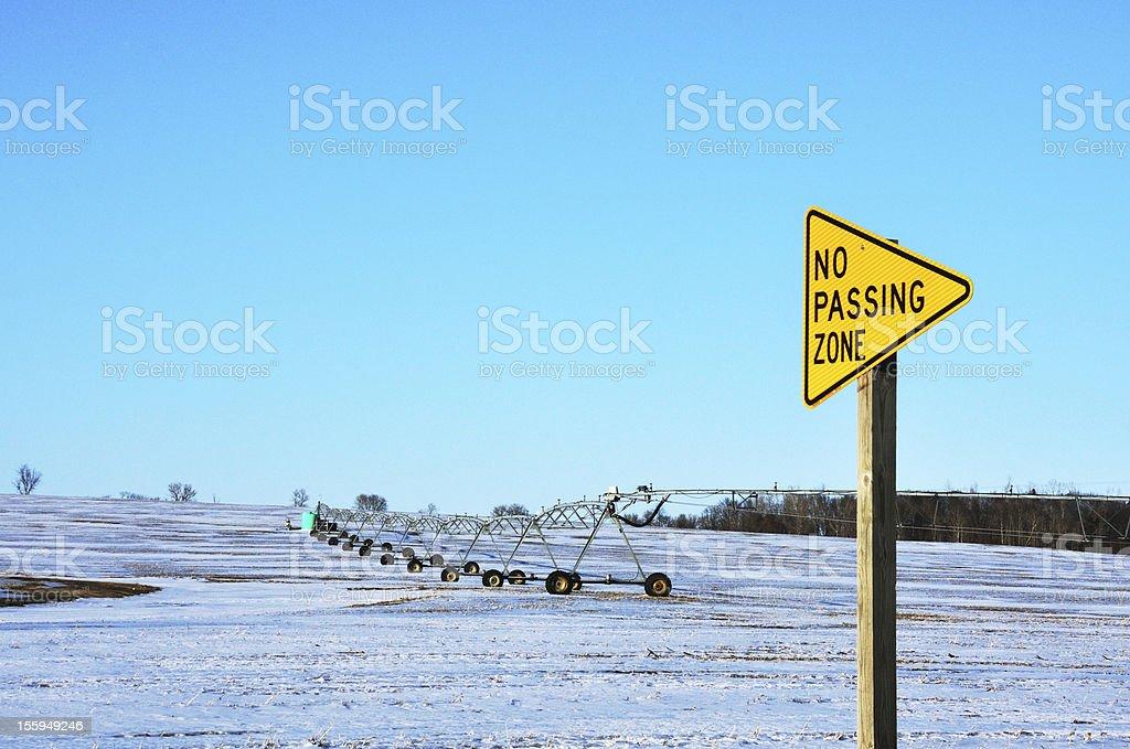 Pivot in No Passing Zone stock photo