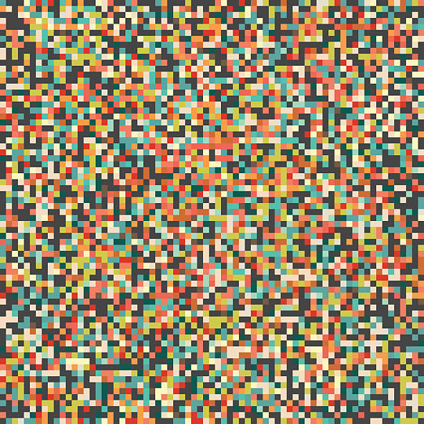 pixel art backgroundpattern - pixellated stock photos and pictures