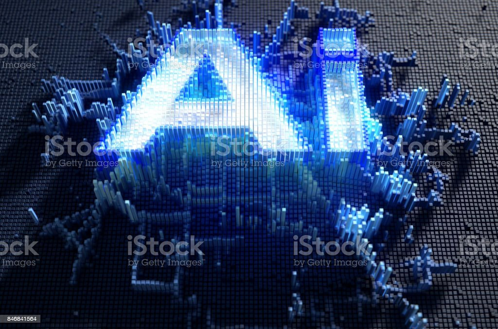 Pixel Artificial Intelligence stock photo