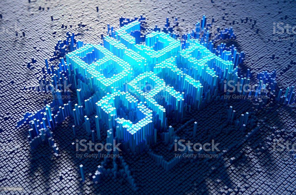 Pixel Big Data Concept stock photo