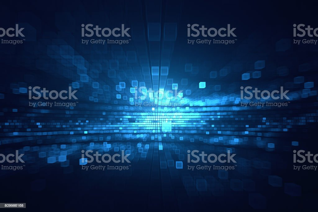 Pixel cubical background stock photo