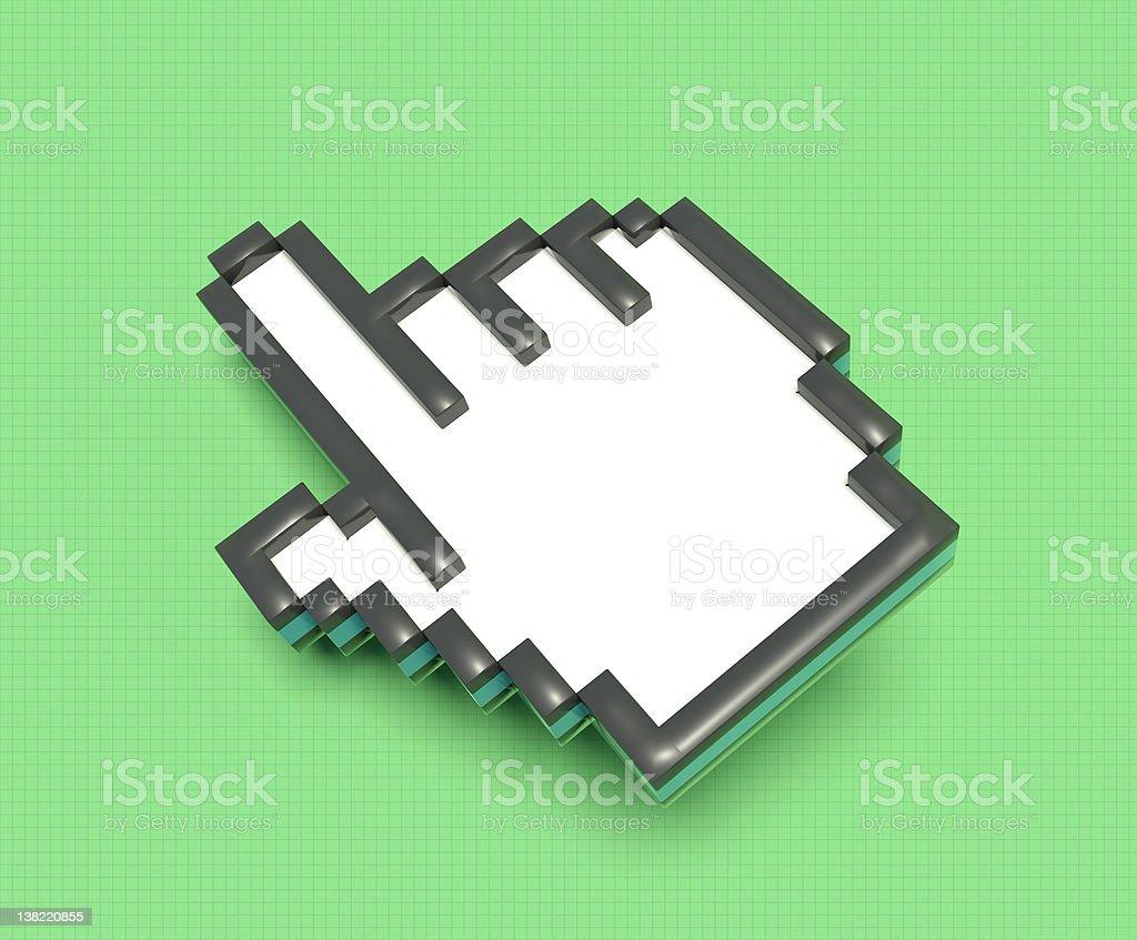 Pixel cursor hand stock photo