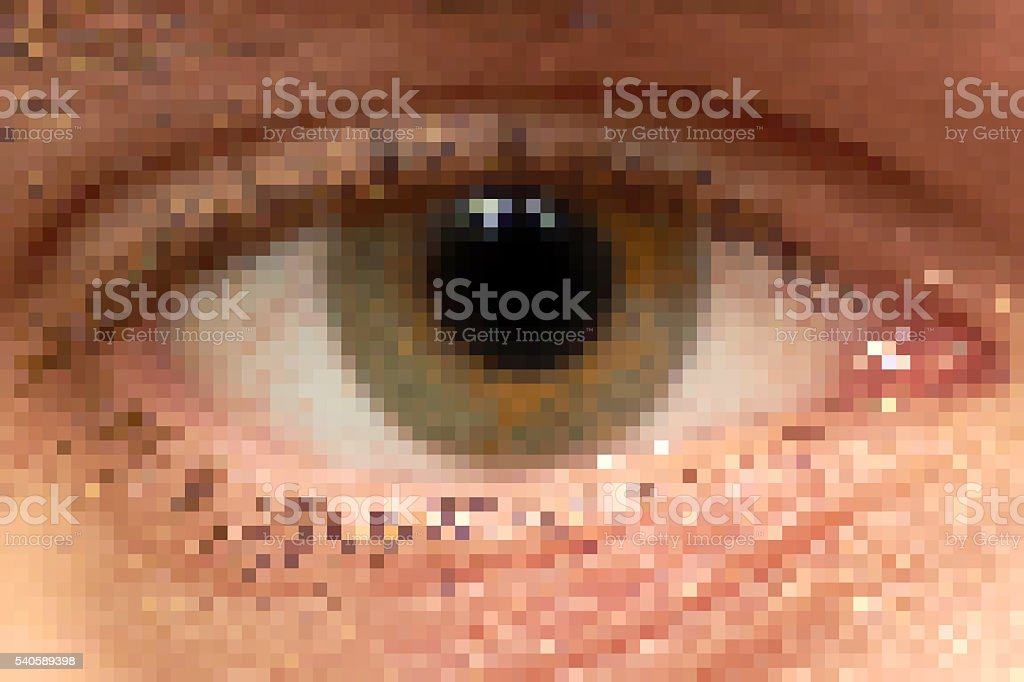pixel eye stock photo
