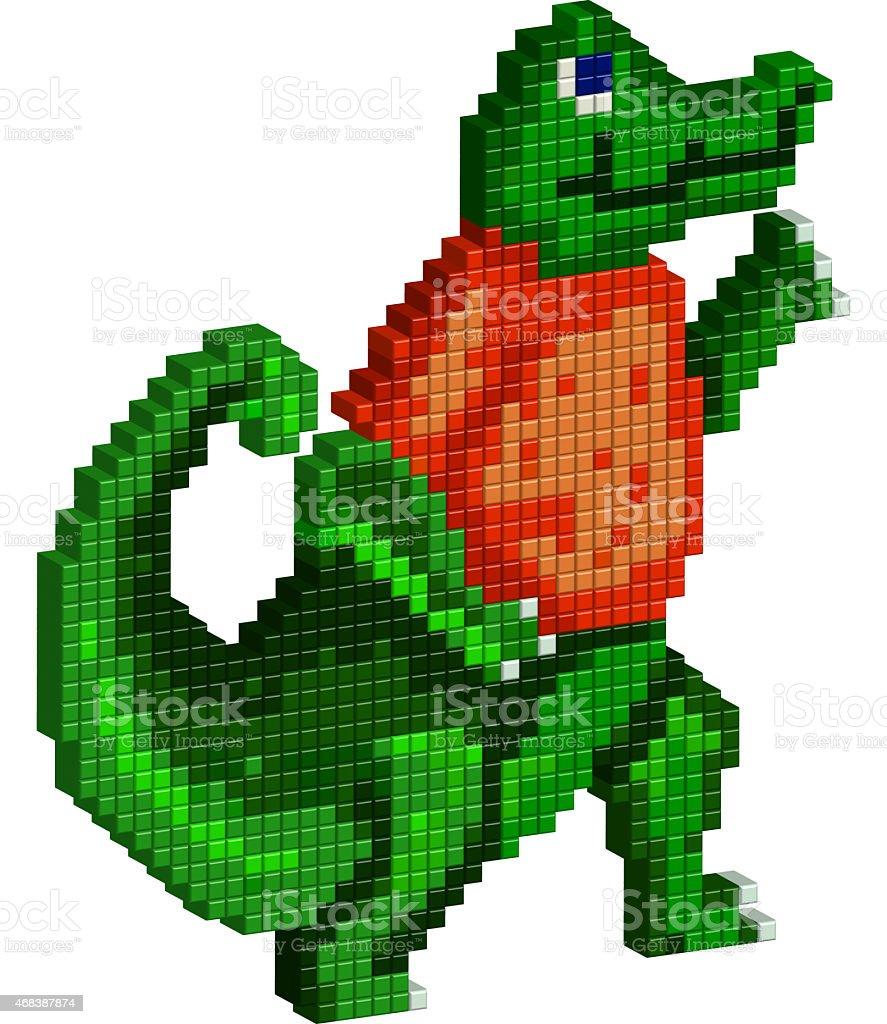 Pixel Gator stock photo