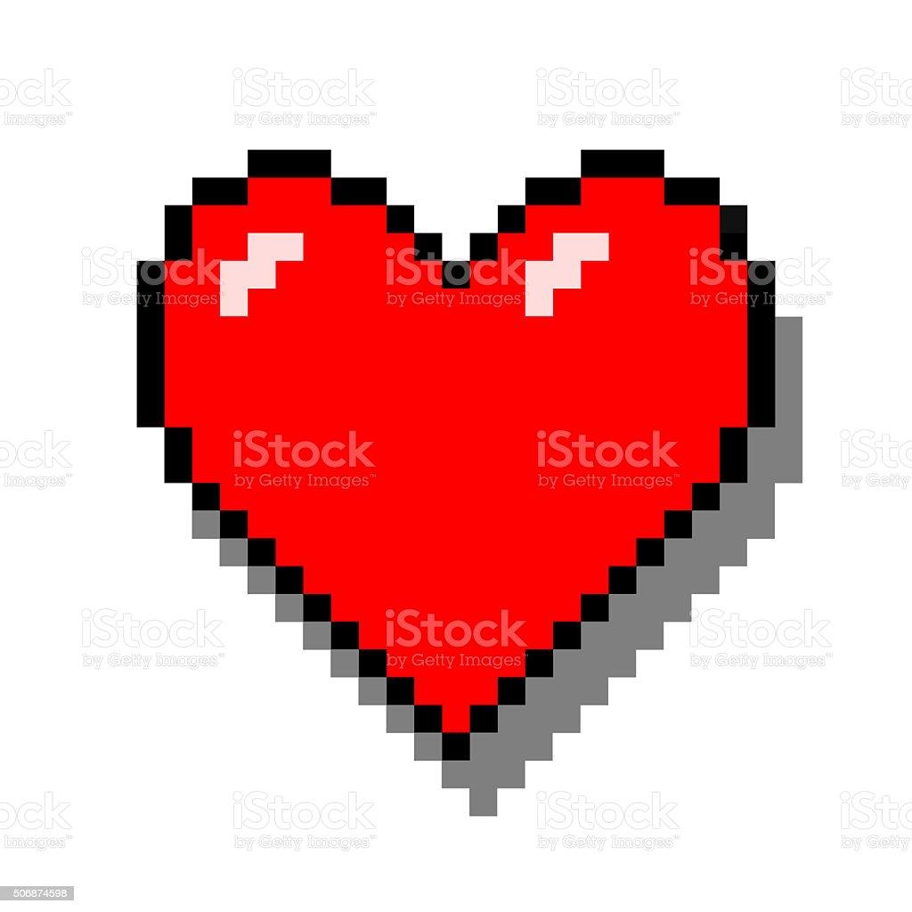 Pixel coração - foto de acervo