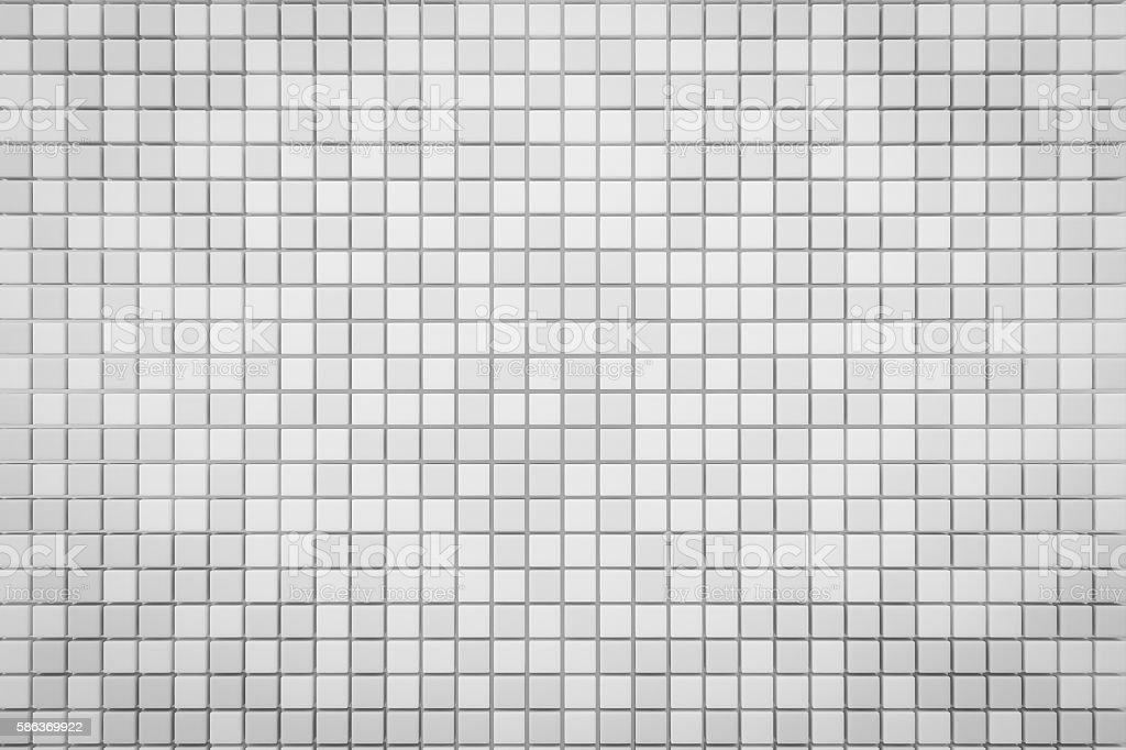 Pixel White Grid Background 3d Render With Copy Space Stock Photo Download Image Now Istock