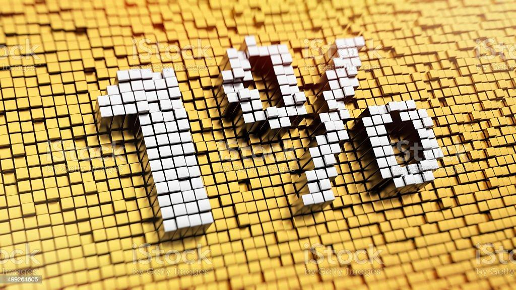 Pixelated 1% stock photo