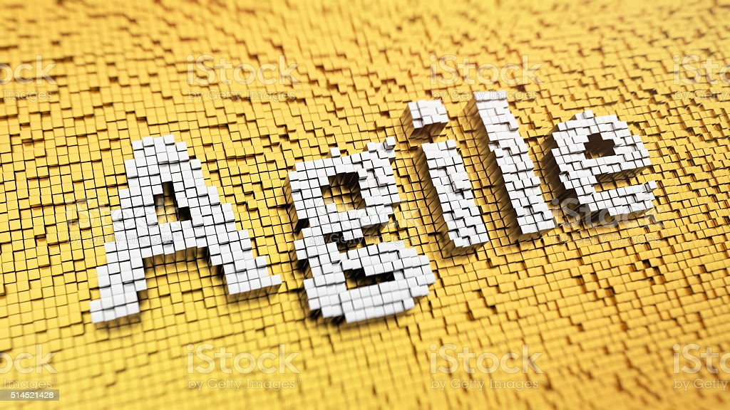 Pixellato Agile - foto stock