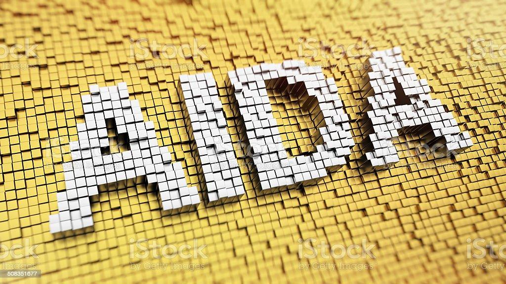 Pixelated AIDA stock photo