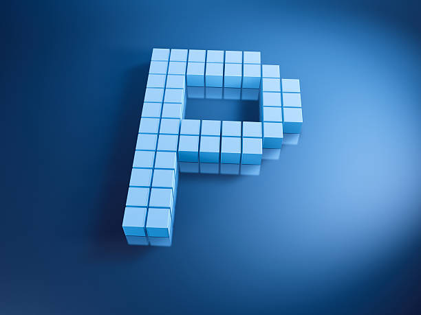 Pixelated Alphabet Letter P Blue Cubes 3D Render of a Letter P built with pixelated blue cubes. Very high resolution available! Use it for Your own composings!Related images: abstract 3d stock pictures, royalty-free photos & images