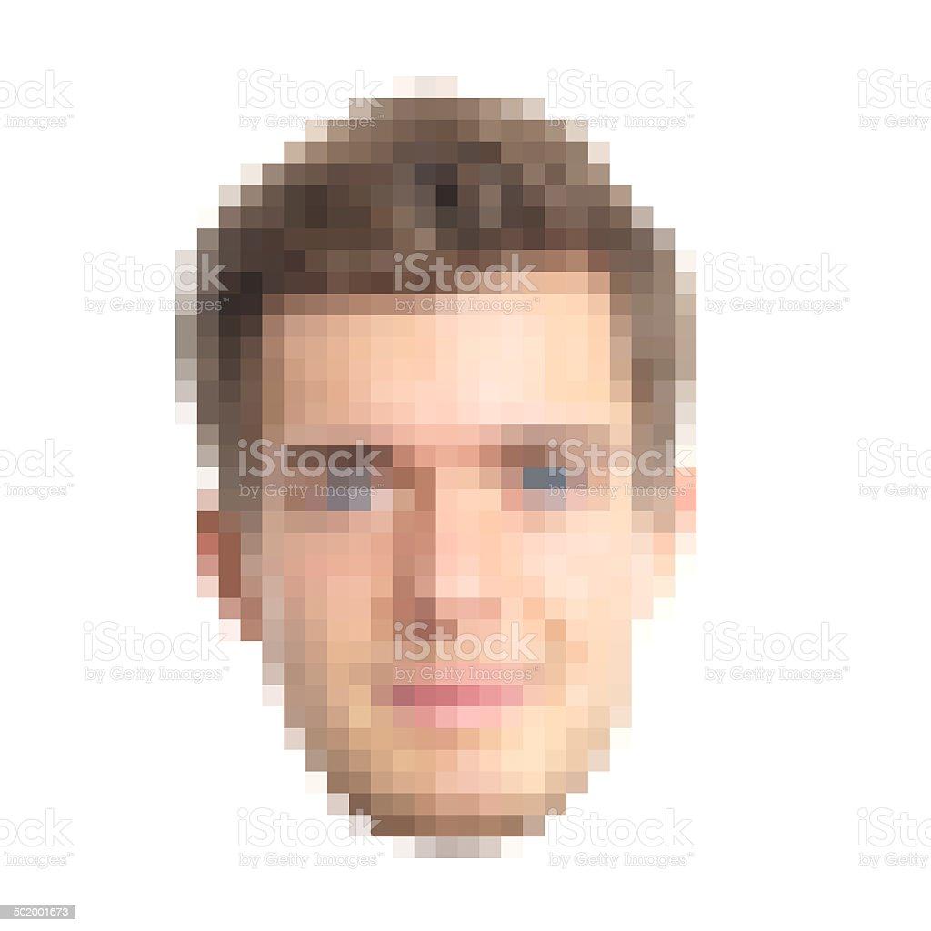 Gepixelt Gesicht – Foto