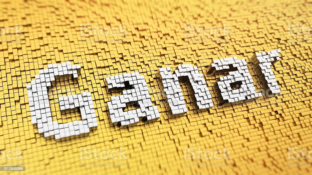 Pixelated Ganar stock photo
