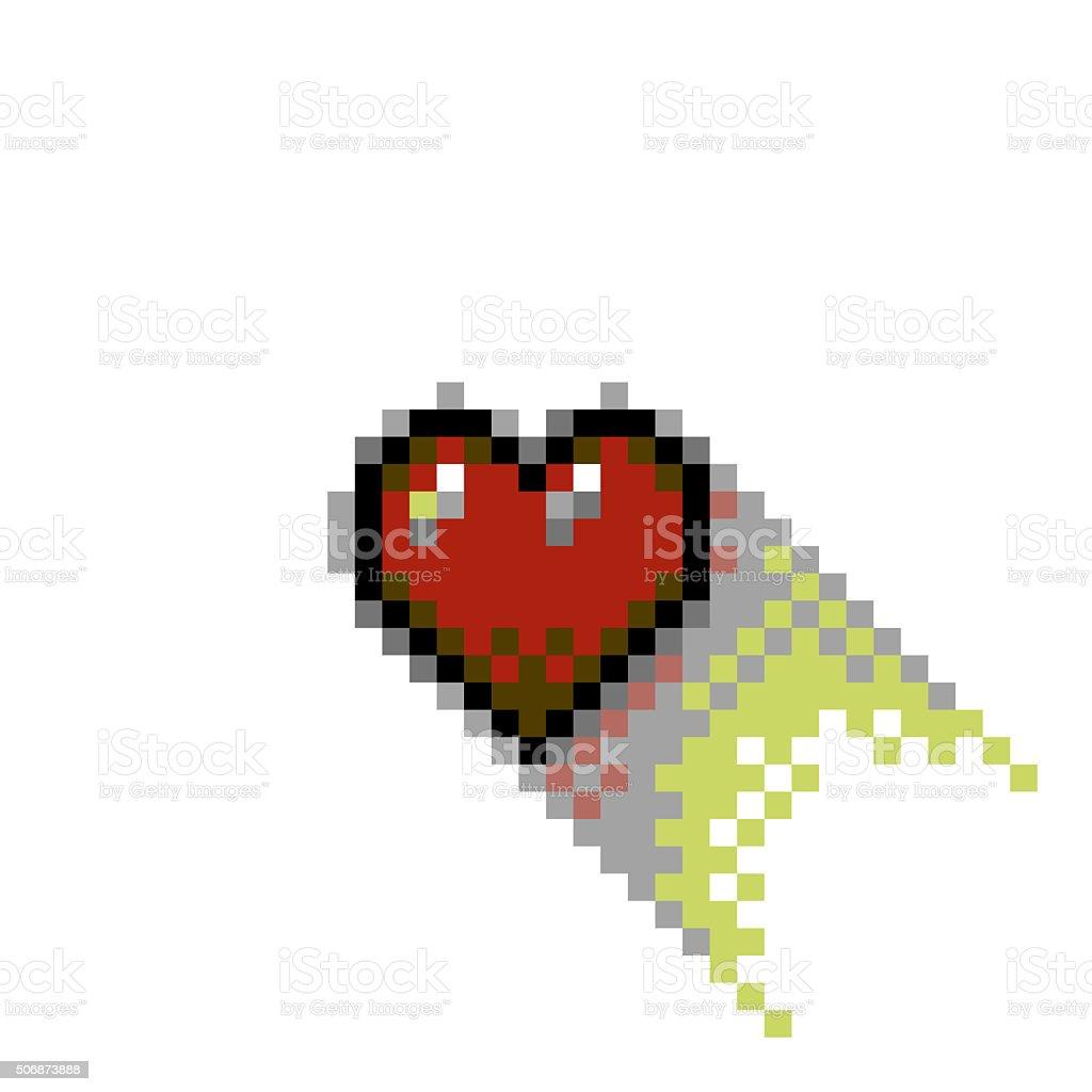 Pixelado coração - foto de acervo