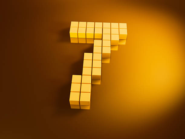 Pixelated Number Seven Golden Cubes 3D Render of a Number Seven built with pixelated golden cubes. Very high resolution available! Use it for Your own composings!Related images: golden cube stock pictures, royalty-free photos & images