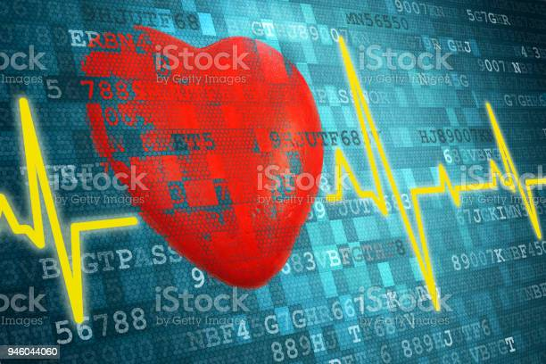 Pixelated red heart symbol and cardiogram on blue abstract technology picture id946044060?b=1&k=6&m=946044060&s=612x612&h=5vpqxjlgjx1lybvhzaipk06gmuxsljhro49b b7oj0i=