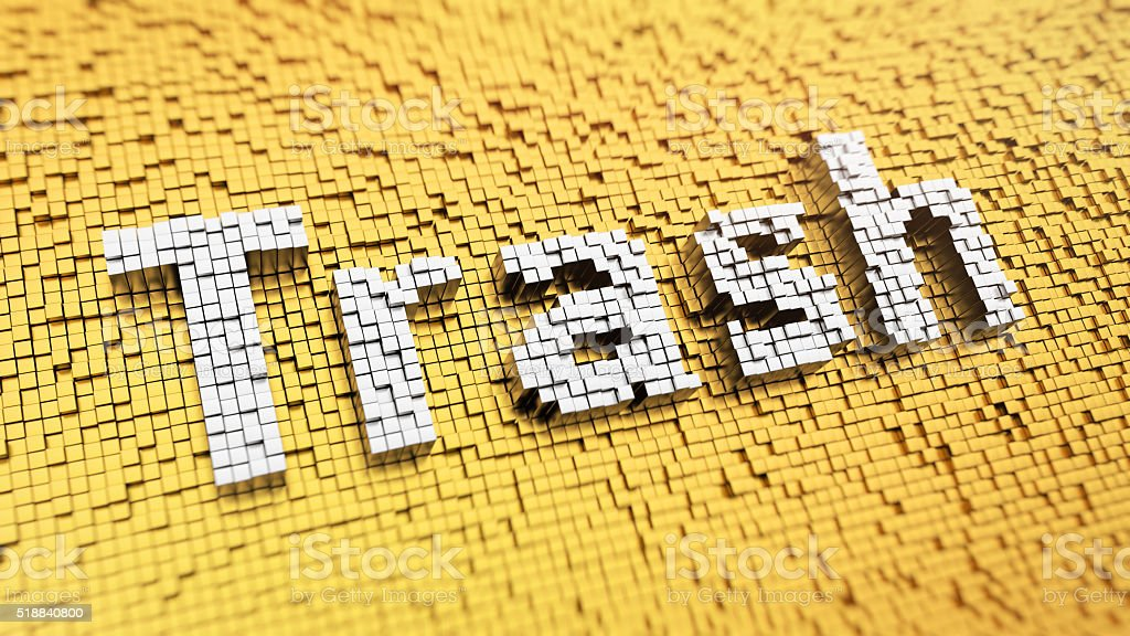 Pixelated Trash stock photo