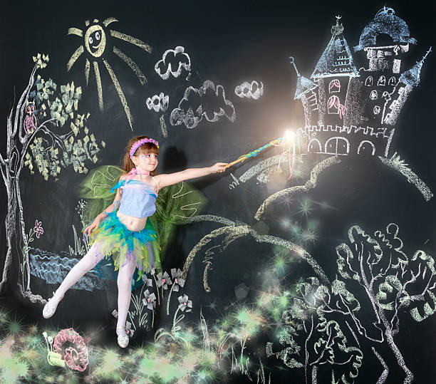 pixie dust - fairy wand stock photos and pictures