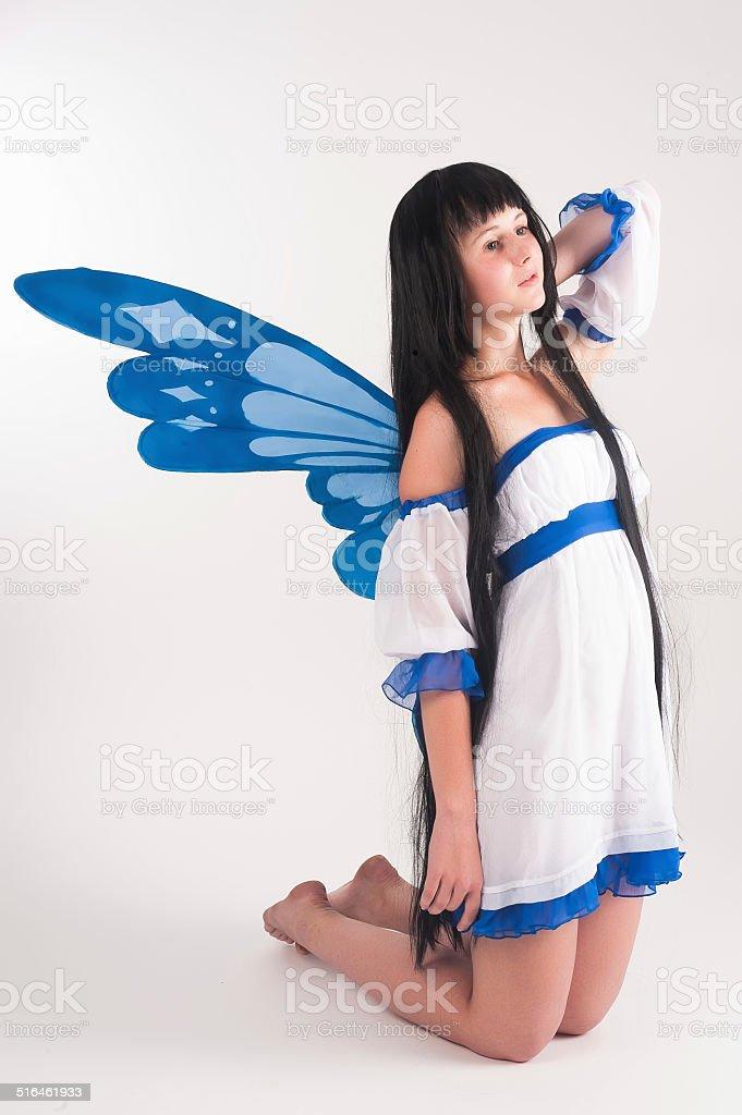 pixie girl stock photo