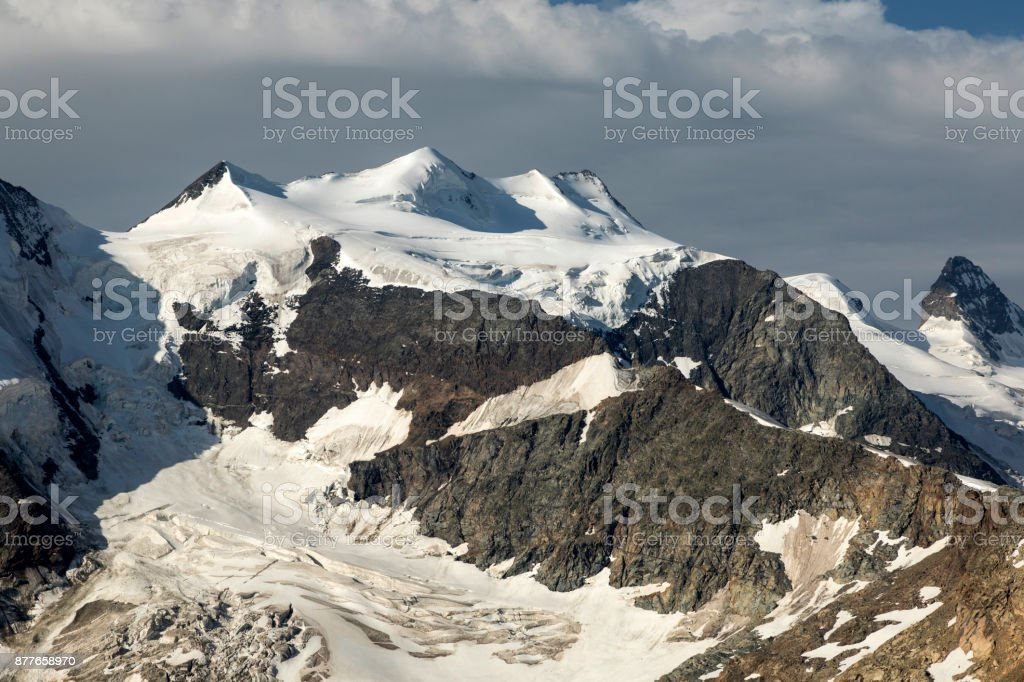 Piz Bernina, Engadin, Switzerland stock photo