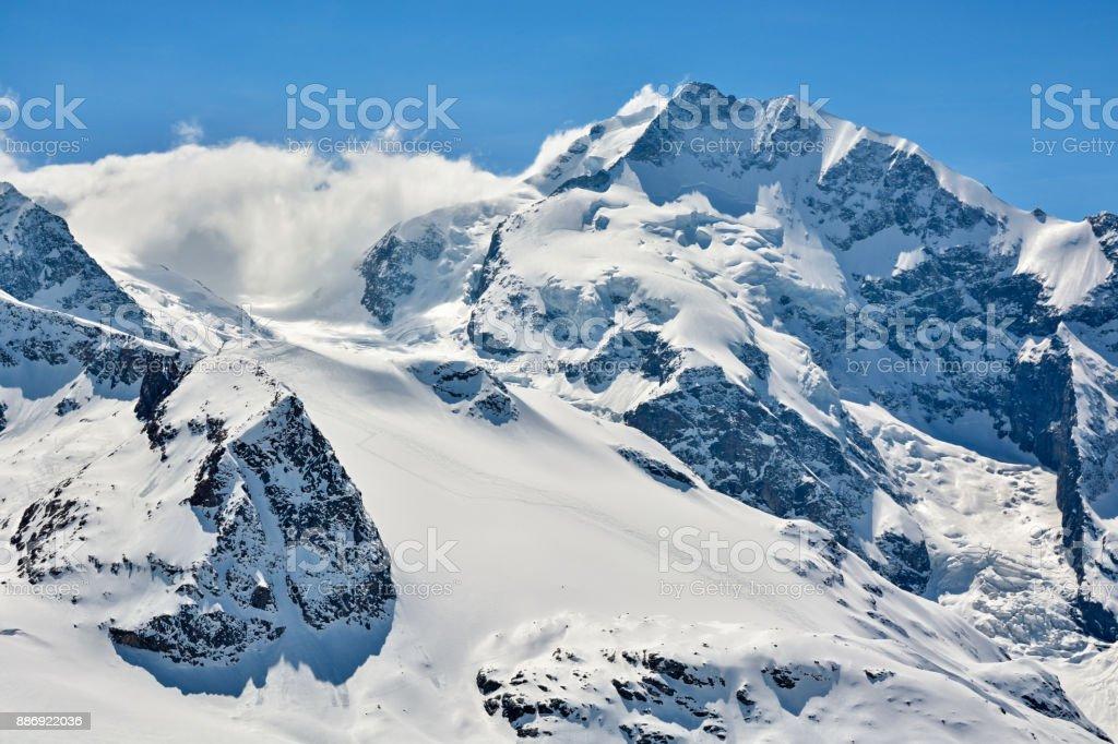Piz Bernina in Switzerland stock photo