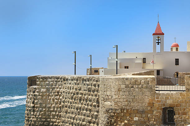 Pizani harbor walls stock photo