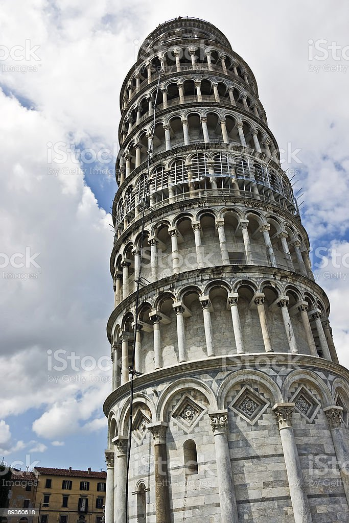 Pizansky tower at the Miracle field. Italy. royalty free stockfoto