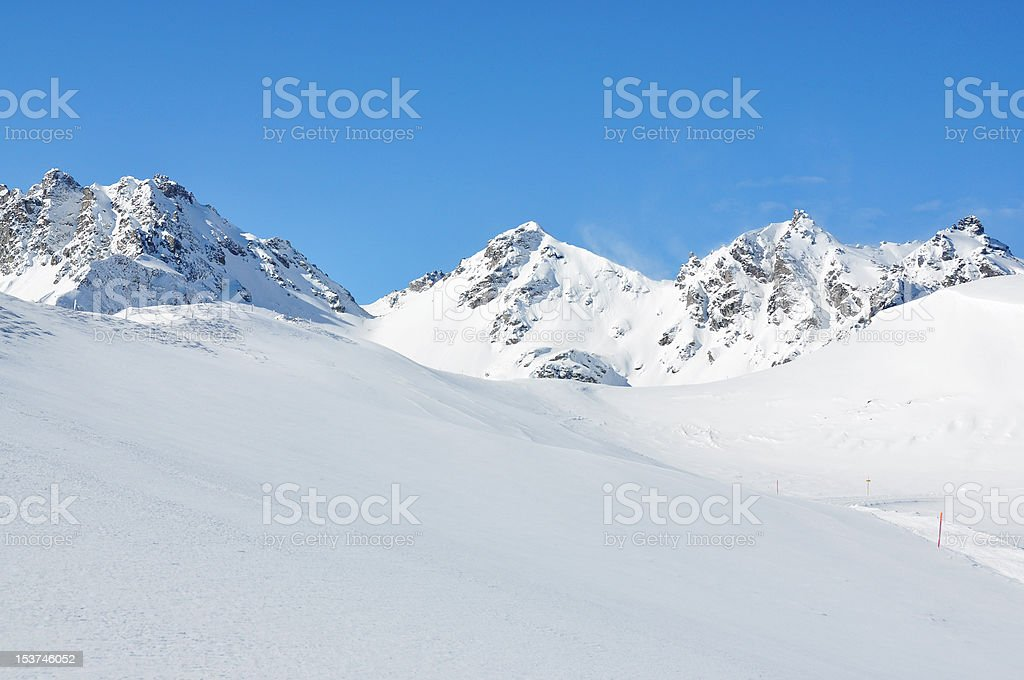 Pizol, famous Swiss skiing resort royalty-free stock photo