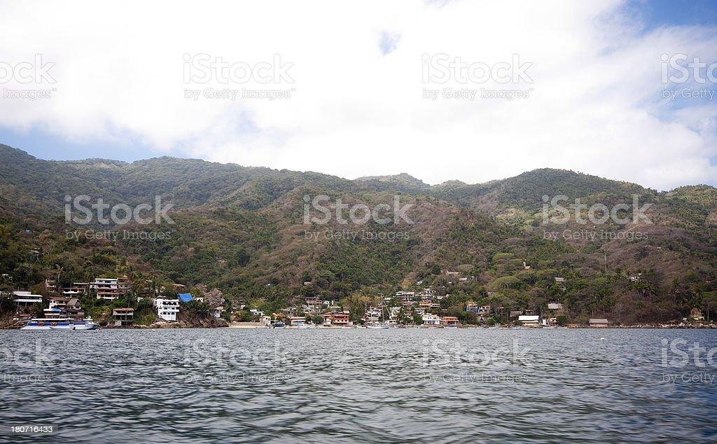 Pizota Fishing Village Puerto Vallarta, Mexico royalty-free stock photo