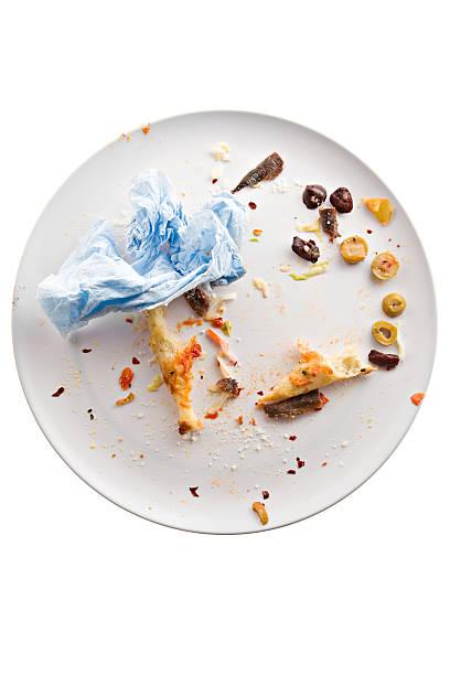 pizza all gone - tallrik uppätet bildbanksfoton och bilder