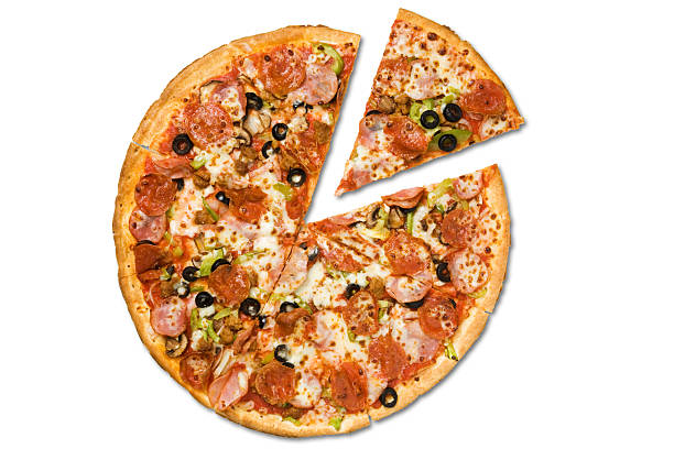 Pizza and Slice stock photo