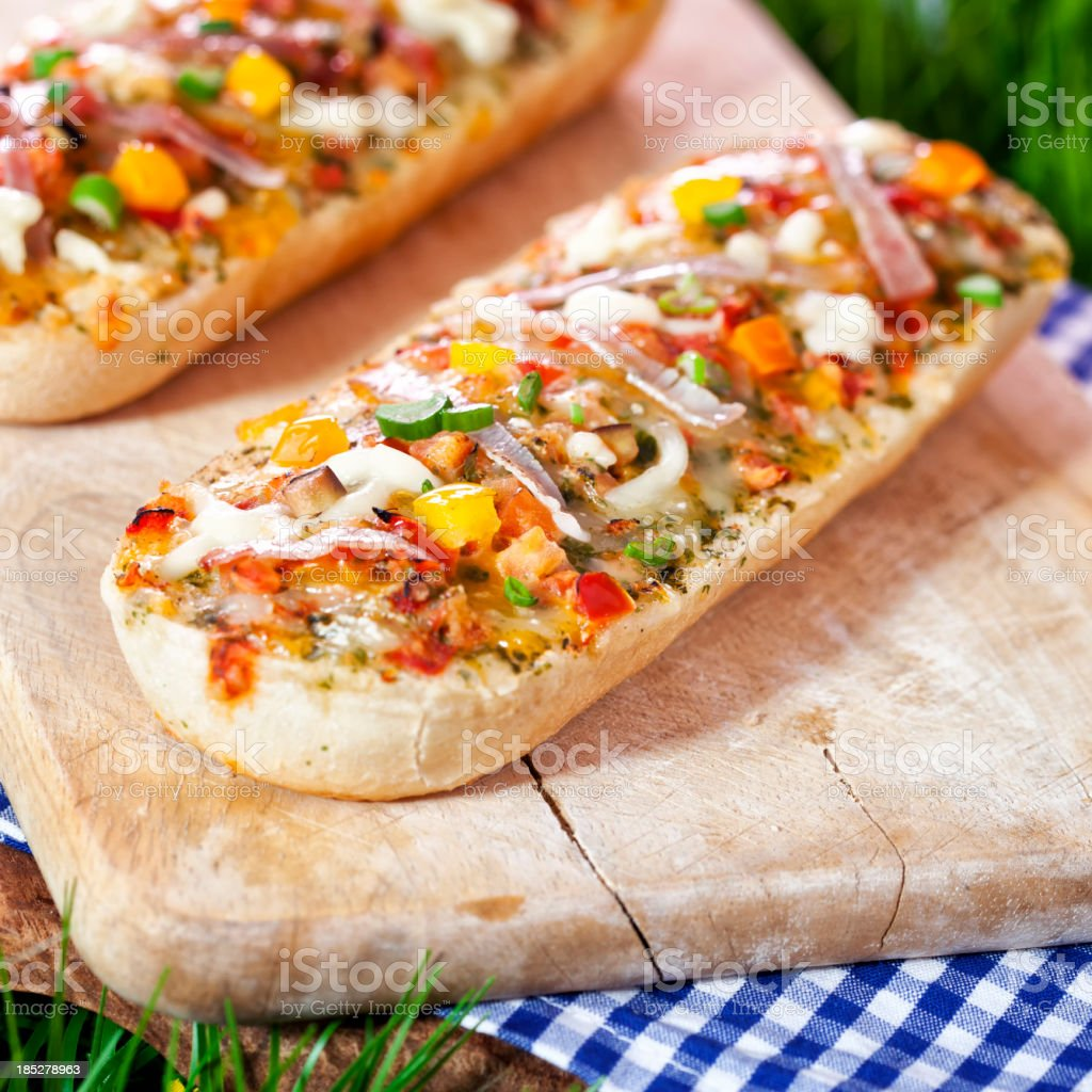 Pizza Baguette Appetizers stock photo