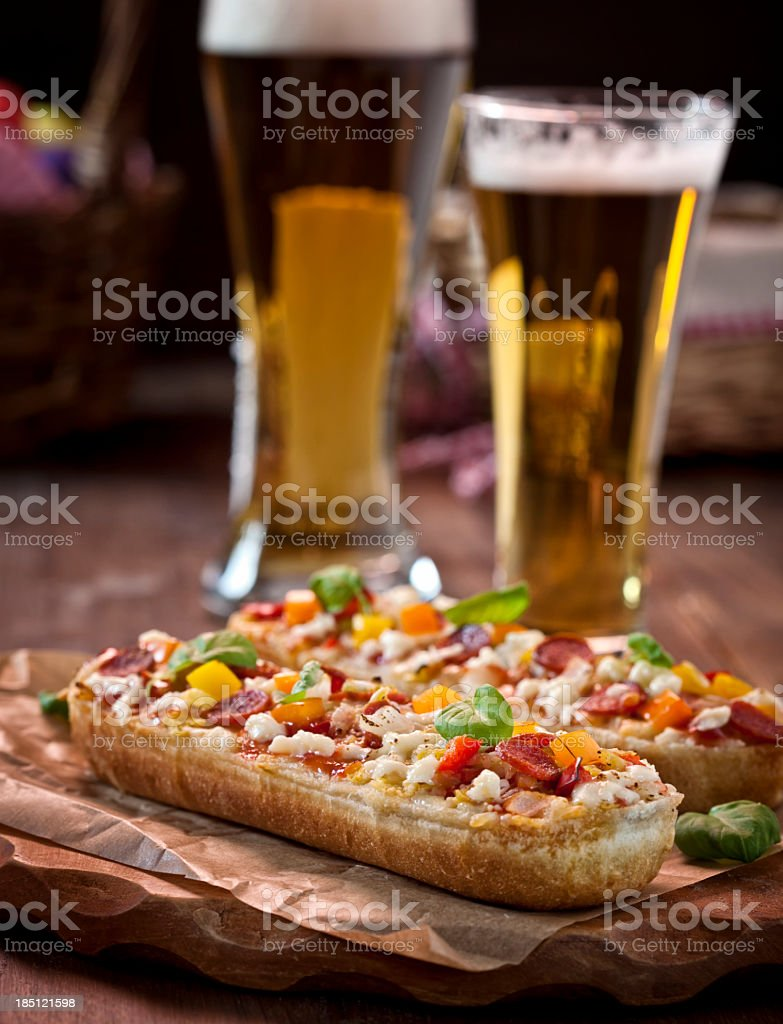 Pizza Baguette Snack stock photo