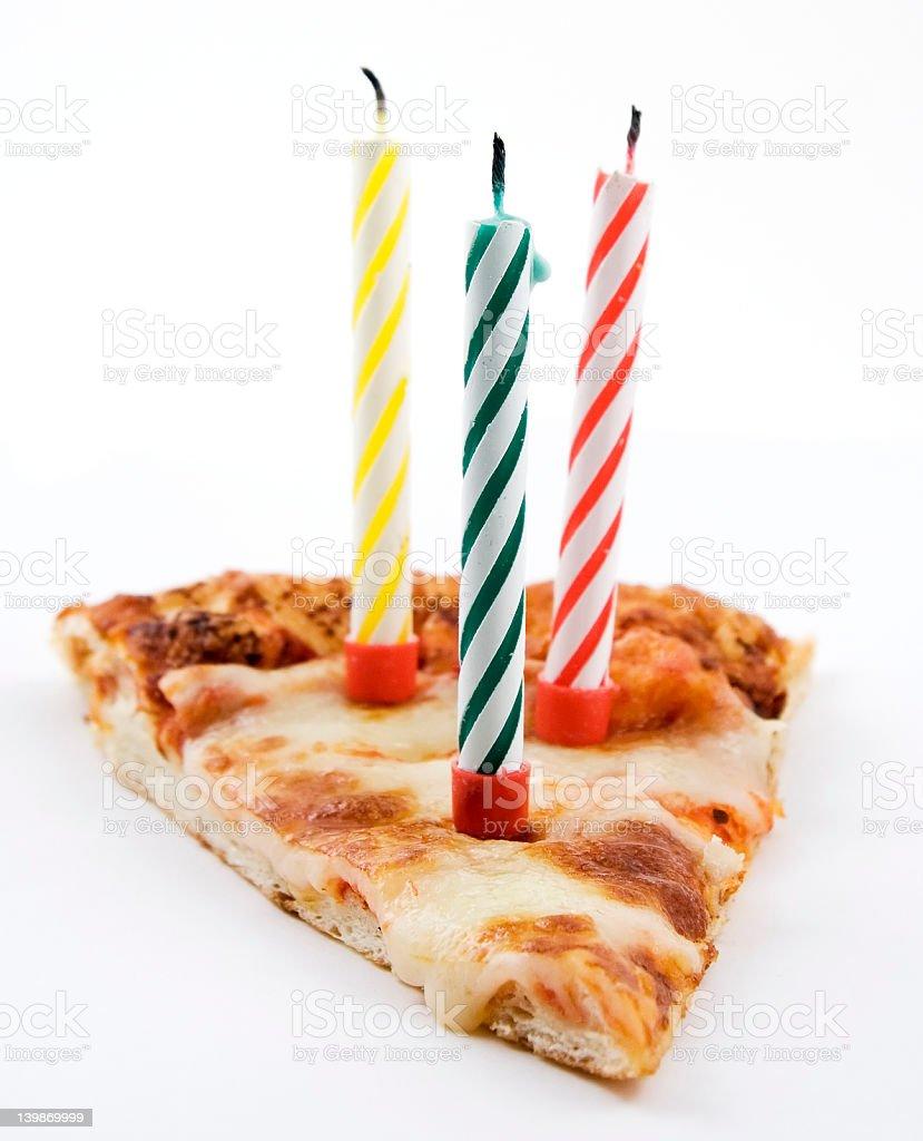 Pizza birthday stock photo