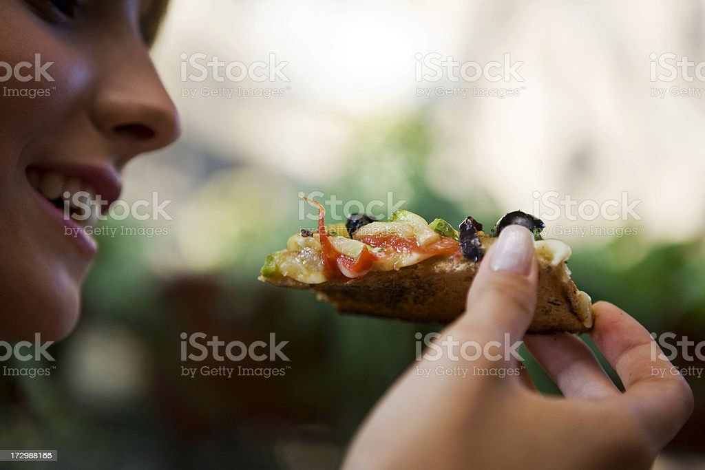Pizza Bite stock photo