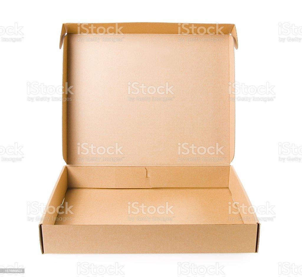 Pizza Box Open stock photo
