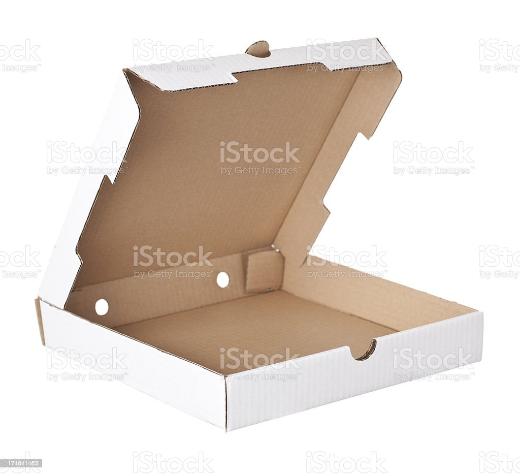 Pizza box. stock photo