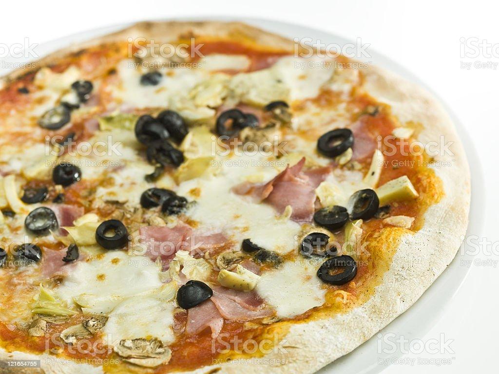 Pizza Capricciosa royalty-free stock photo